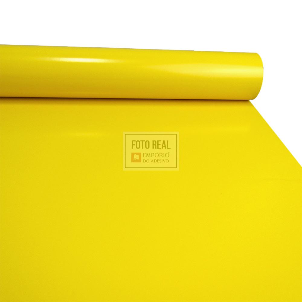 Adesivo Silver Max Brilho Amarelo Médio 1,22 x 1,00m
