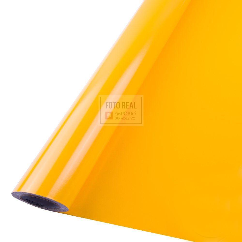 Adesivo Silver Max Brilho Amarelo Ouro 1,22 x 1,00m