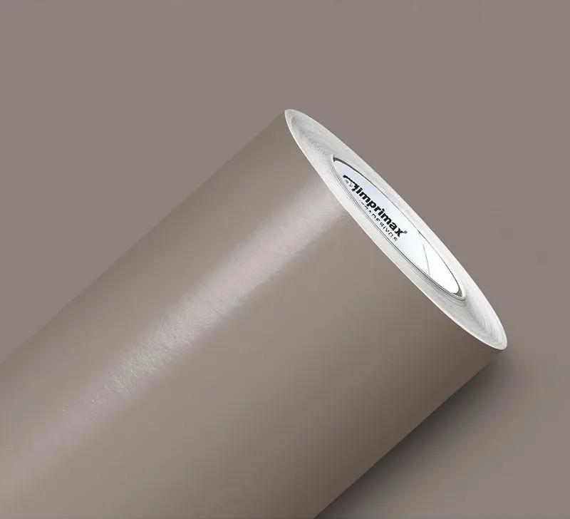 Adesivo Silver Max Brilho Bege Taupe 1,22 x 1,00m