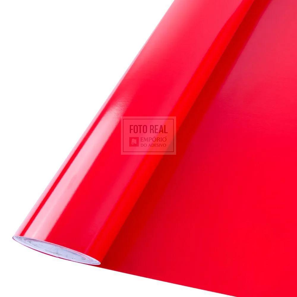 Adesivo Silver Max Brilho Vermelho Fogo 1,22 x 1,00m