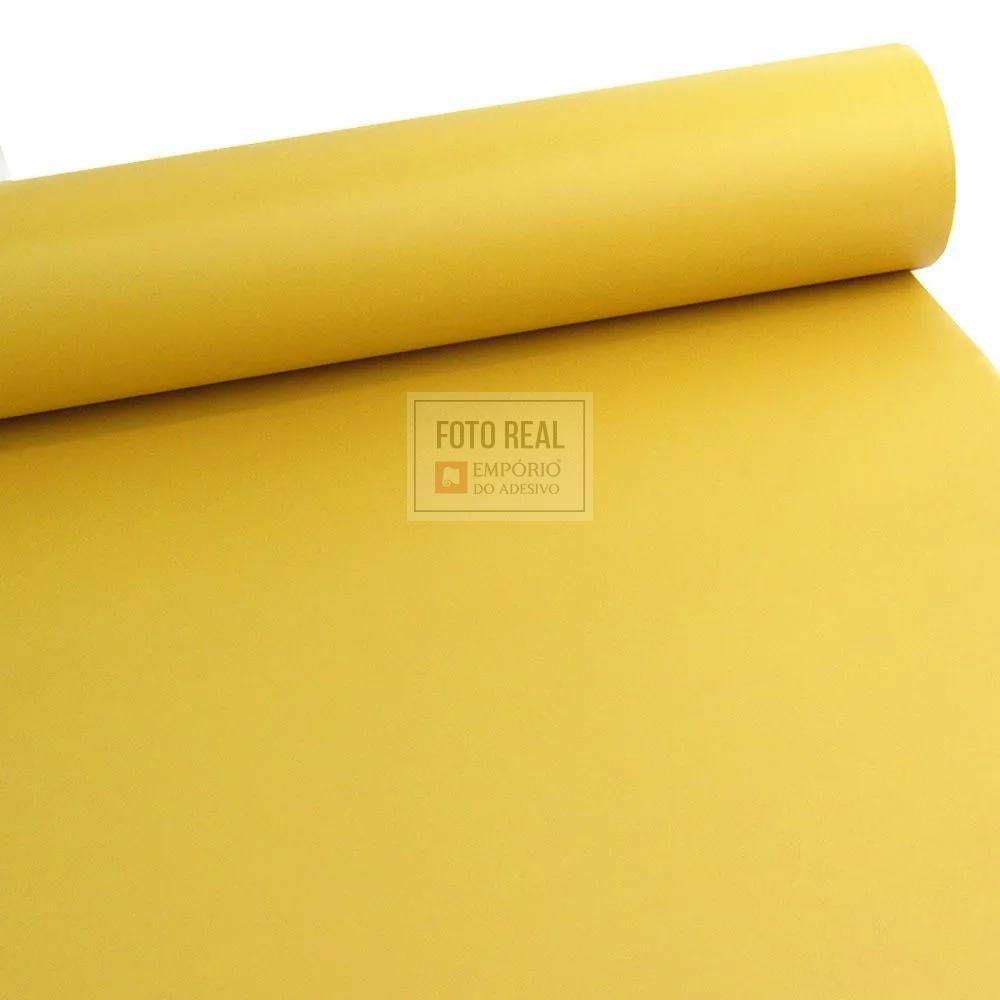 Adesivo Silver Max Fosco Amarelo Gengibre 1,22 x 1,00m