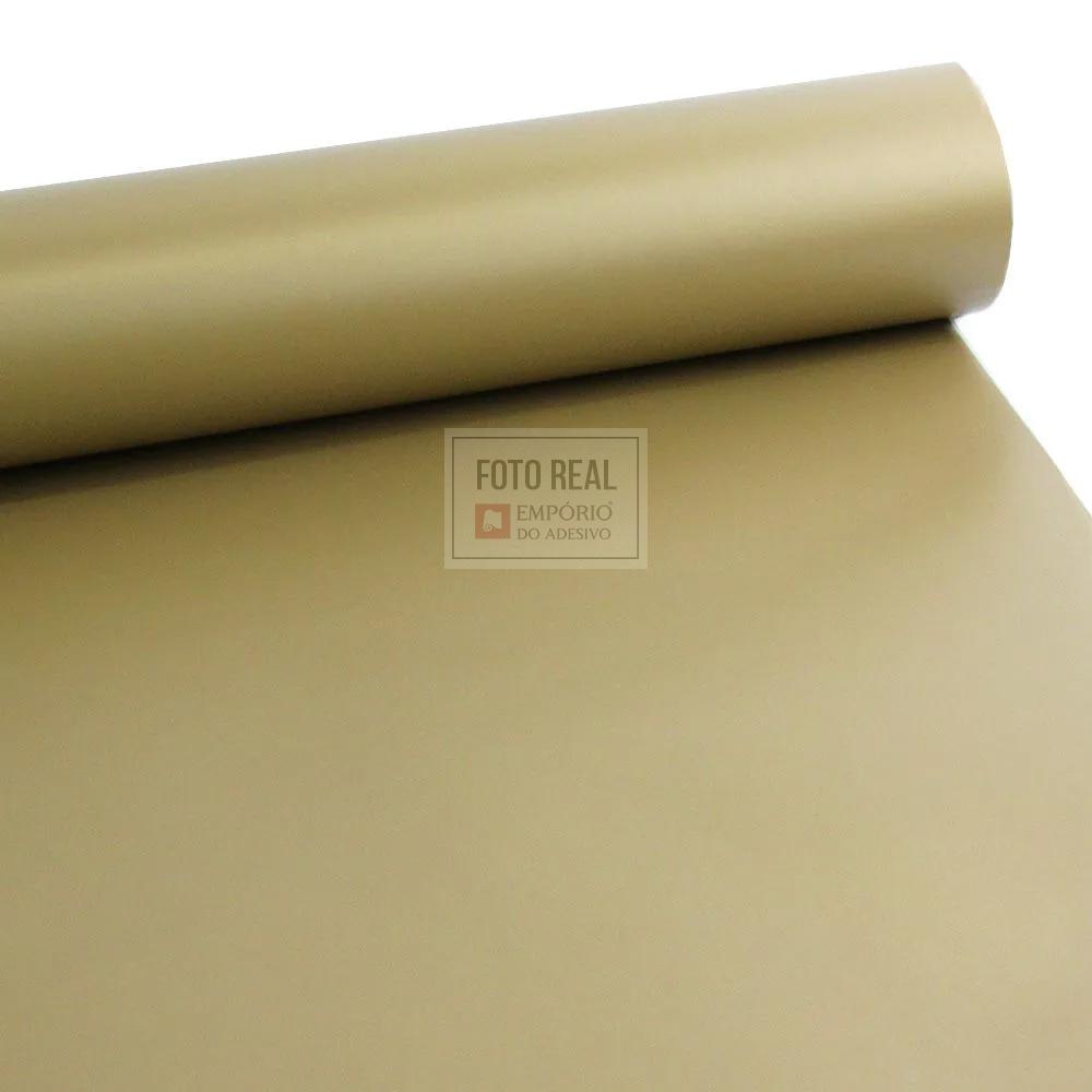 Adesivo Silver Max Fosco Dourado 1,22 x 1,00m