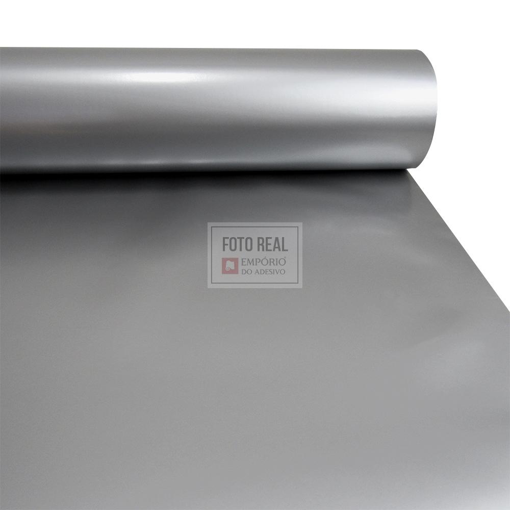 Adesivo Silver Max Fosco Prata Infinito 1,22 x 1,00m