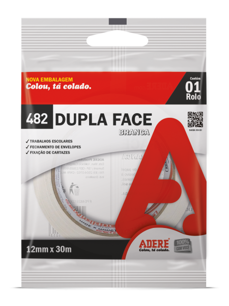 Fita Dupla Face Papel 12mm x 30m