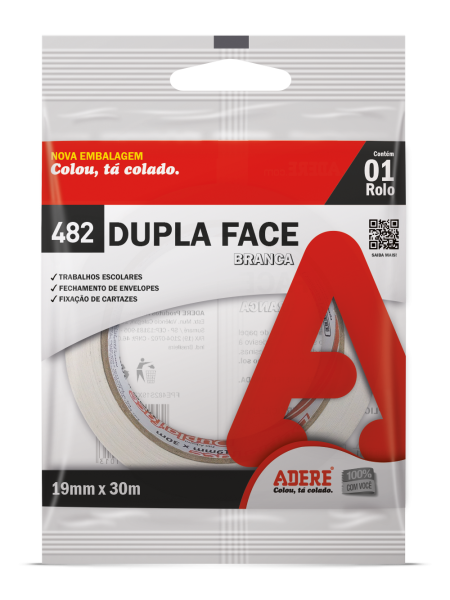 Fita Dupla Face Papel 19mm x 30m