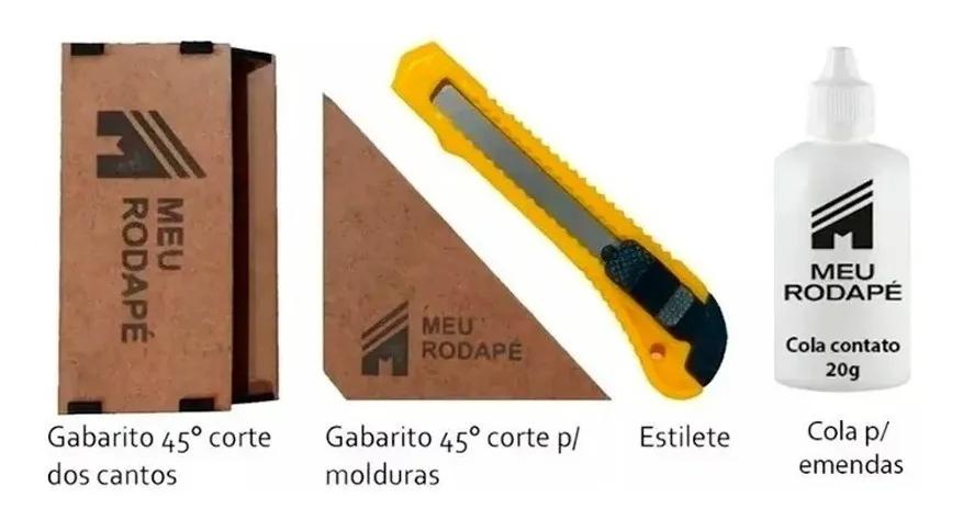 Kit de Instalação de Rodapé de Eva 10x1x15cm
