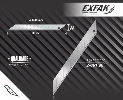 Lamina Exfark 30 Graus Aço Carbono Cx C/ 10 unidades