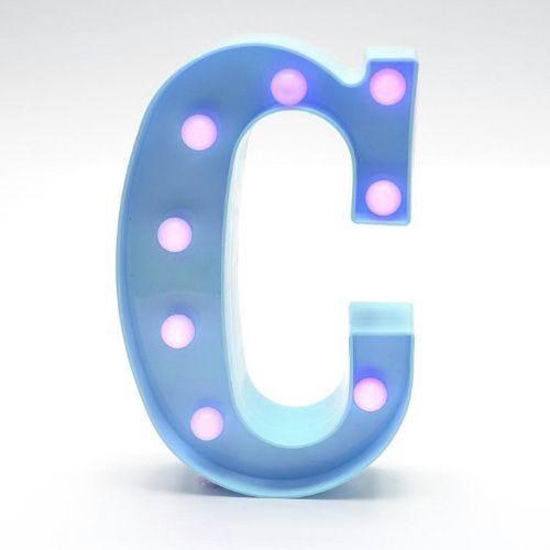 Luminária Led Letra C Azul
