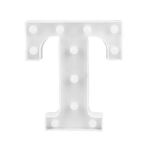 Luminária Led Letra T Branco