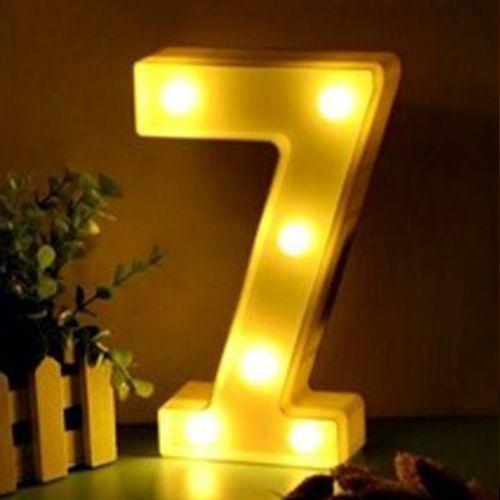 Luminária Led Número 7