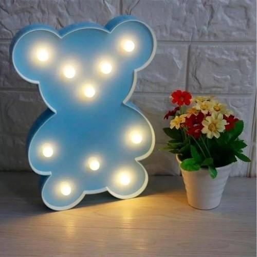 Luminária Led Urso Azul