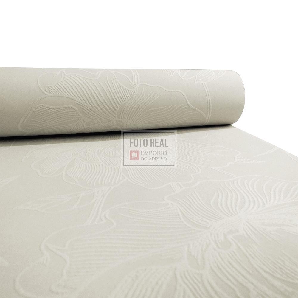Papel de Parede Atemporal Branco Floral 3801 0,52 x 10,00m