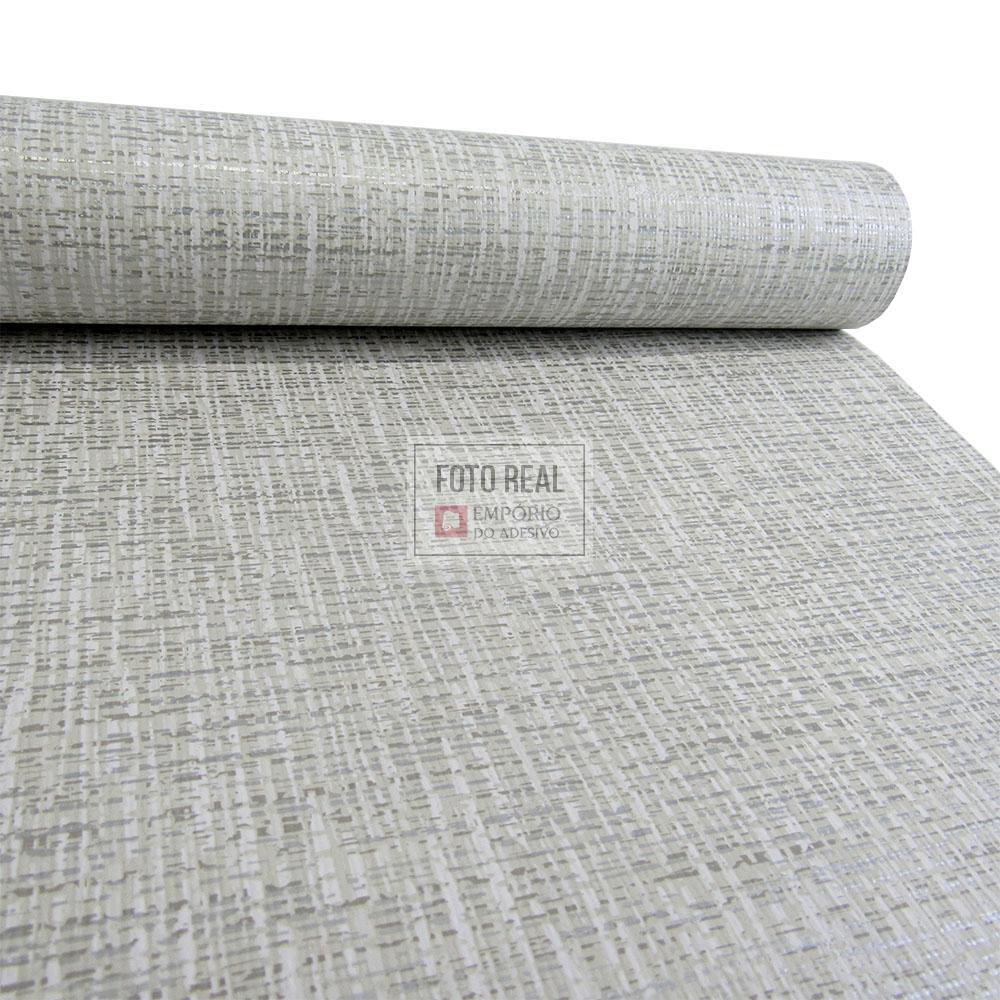 Papel de Parede Atemporal Cinza Textura Sergipe 3713 0,52 x 10,00m
