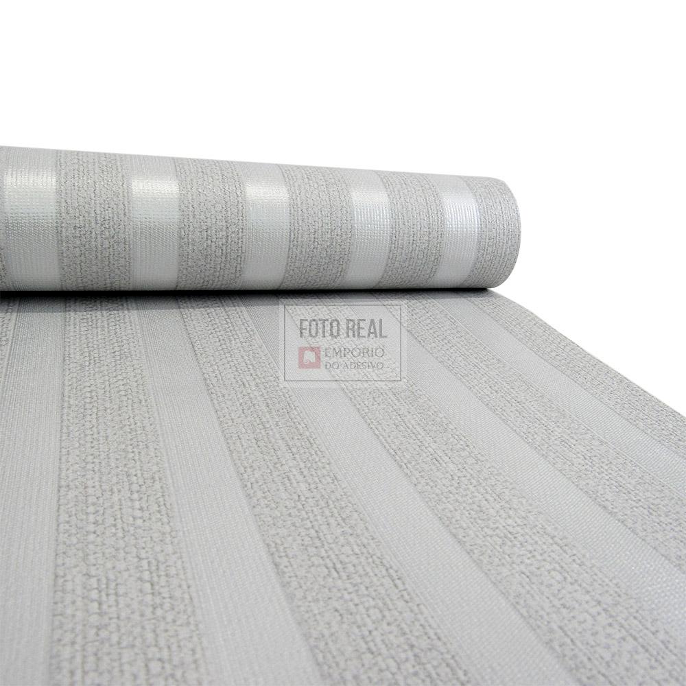 Papel de Parede Atemporal Marrom Listras Metalizadas 3717 0,52 x 10,00m