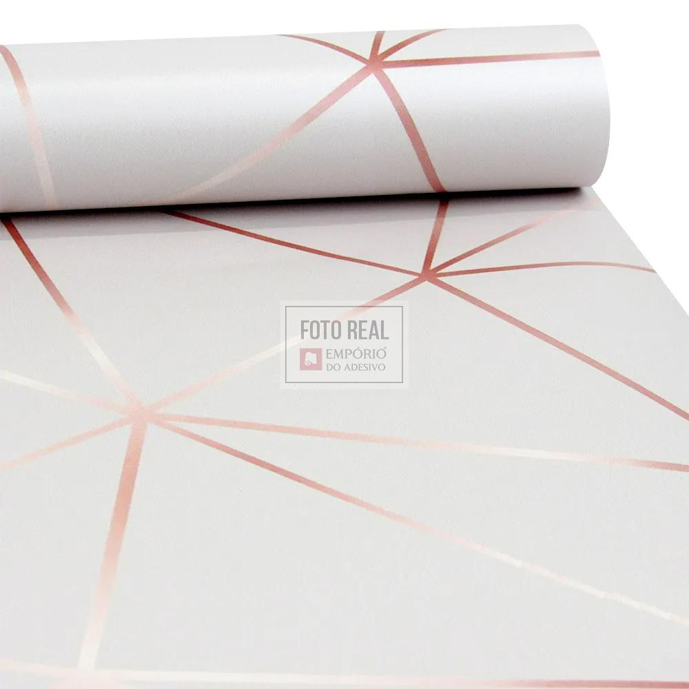 Papel de Parede Tacolado Zara Fendi e Rose 0,47 x 2,60m