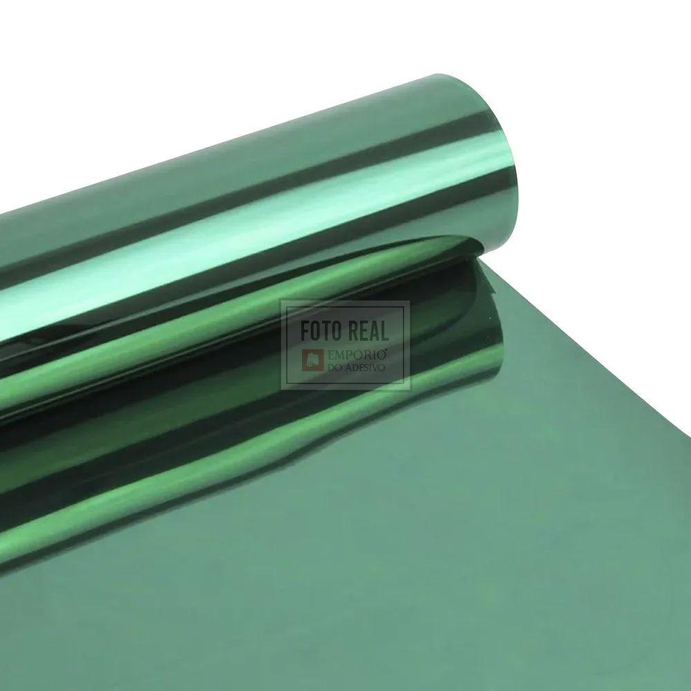 Película para Vidro Espelhado Verde 1,52m x 1,00m