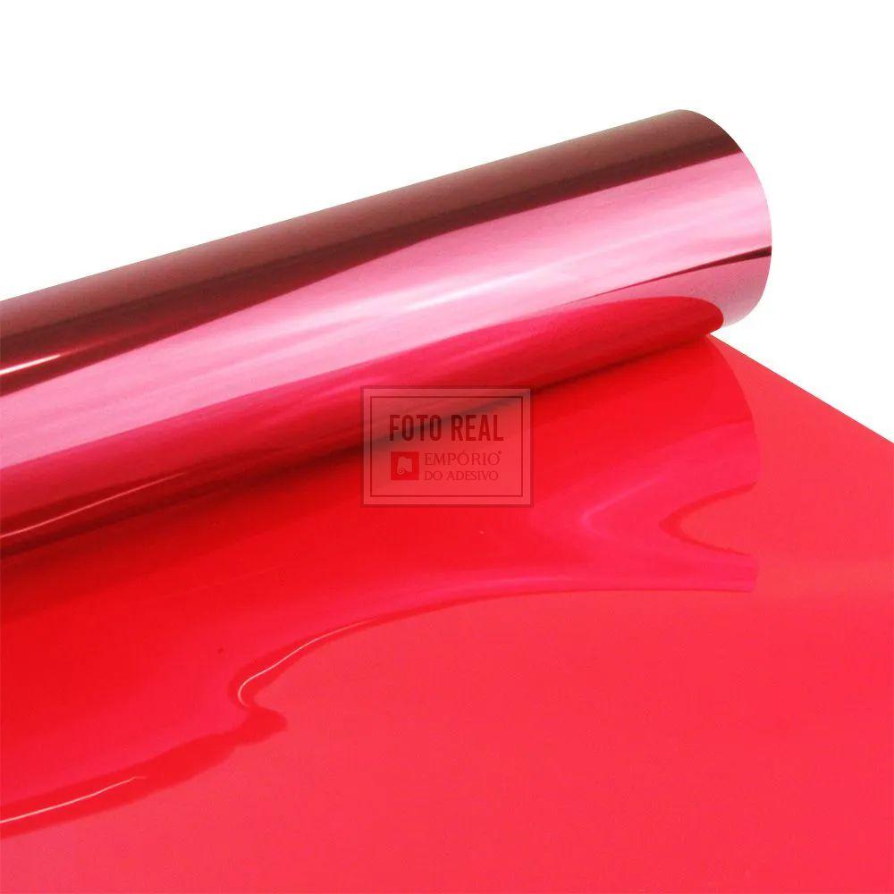 Película para Vidro Espelhado Vermelho 1,52m x 1,00m