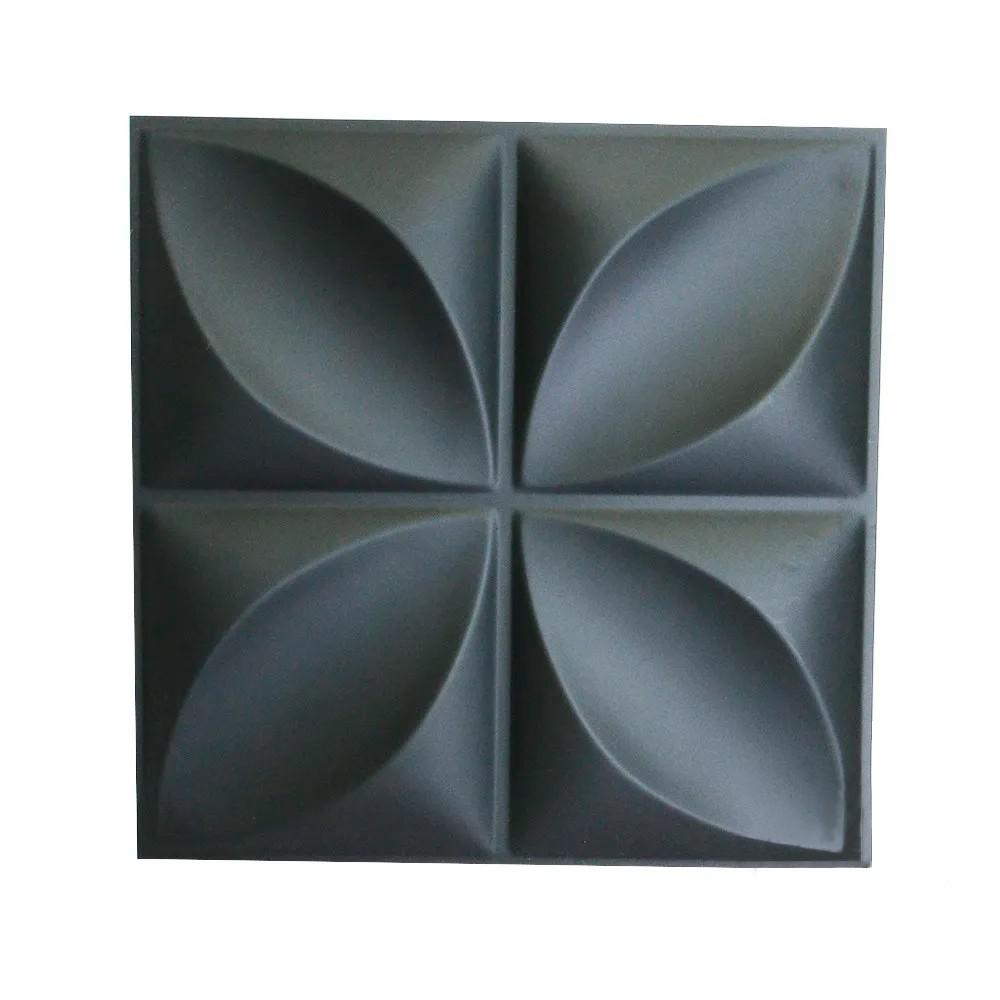 Placa 3D Autoadesiva Revestimento Dark Pétala 0,50 x 0,50cm