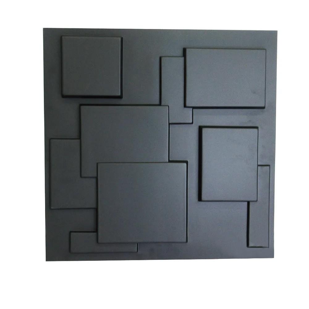 Placa 3D Autoadesiva Revestimento Dark Plazza 0,50 x 0,50cm