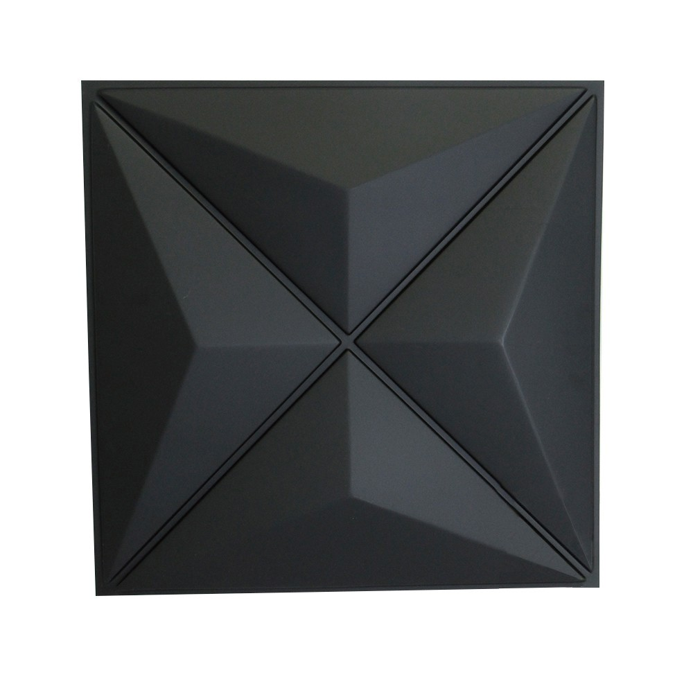 Placa 3D Autoadesiva Revestimento Dark Versus 0,50 x 0,50cm