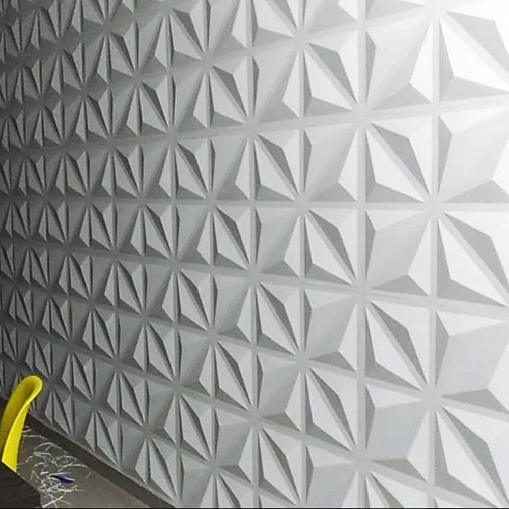 Placa 3D Autoadesiva Revestimento Pop Madrid 0,50 x 0,50cm