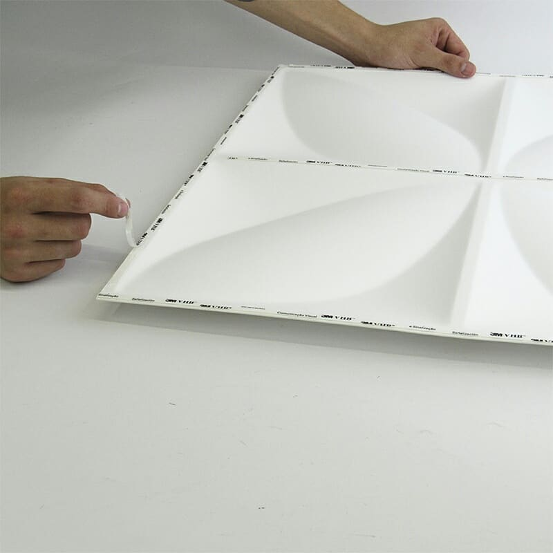 Placa 3D Autoadesiva Revestimento Pop Mônaco 0,50 x 0,50cm