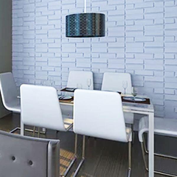 Placa 3D Autoadesiva Revestimento Premium Anemos 0,50 x 0,50cm