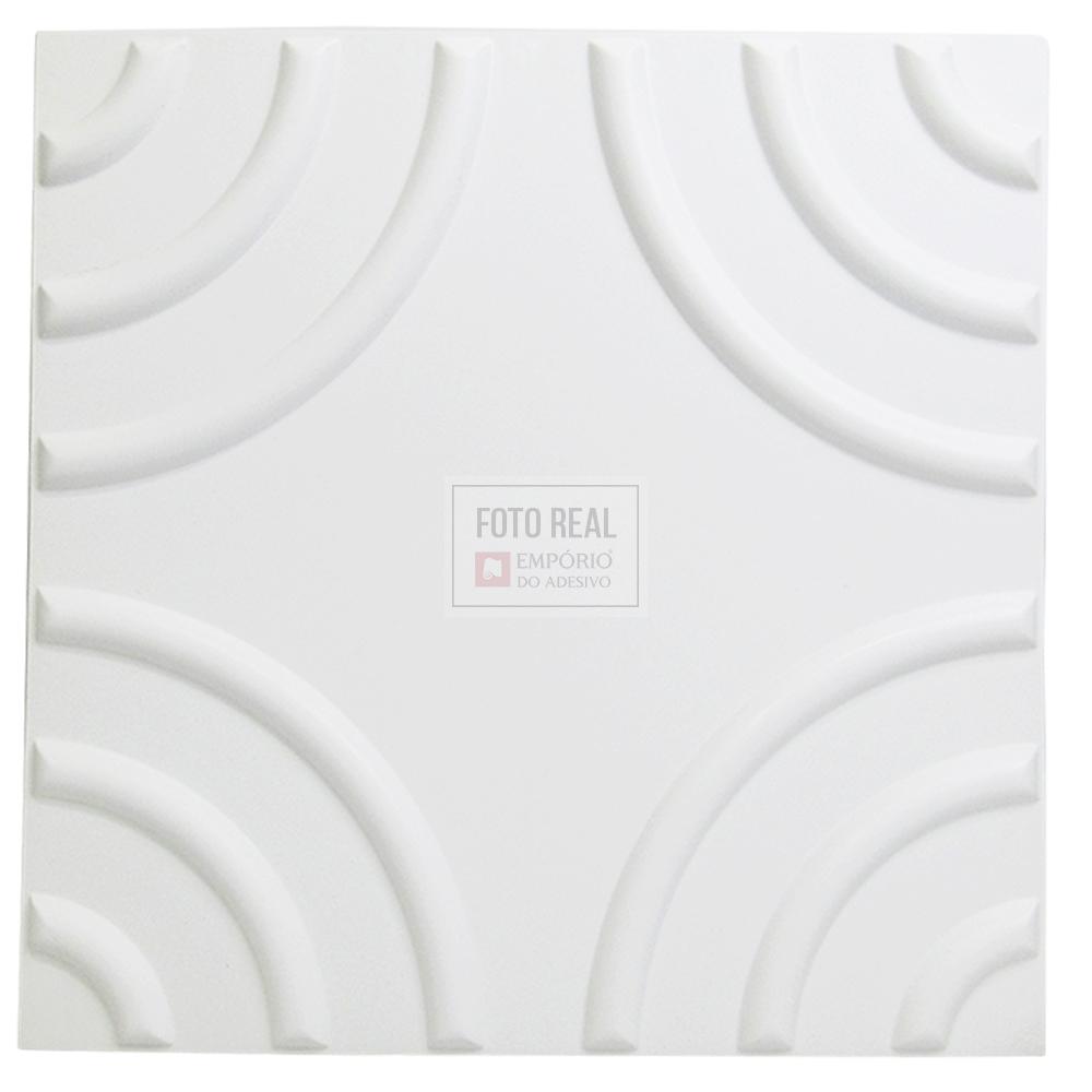 Placa 3D Autoadesiva Revestimento Premium Circolare 0,50 x 0,50cm