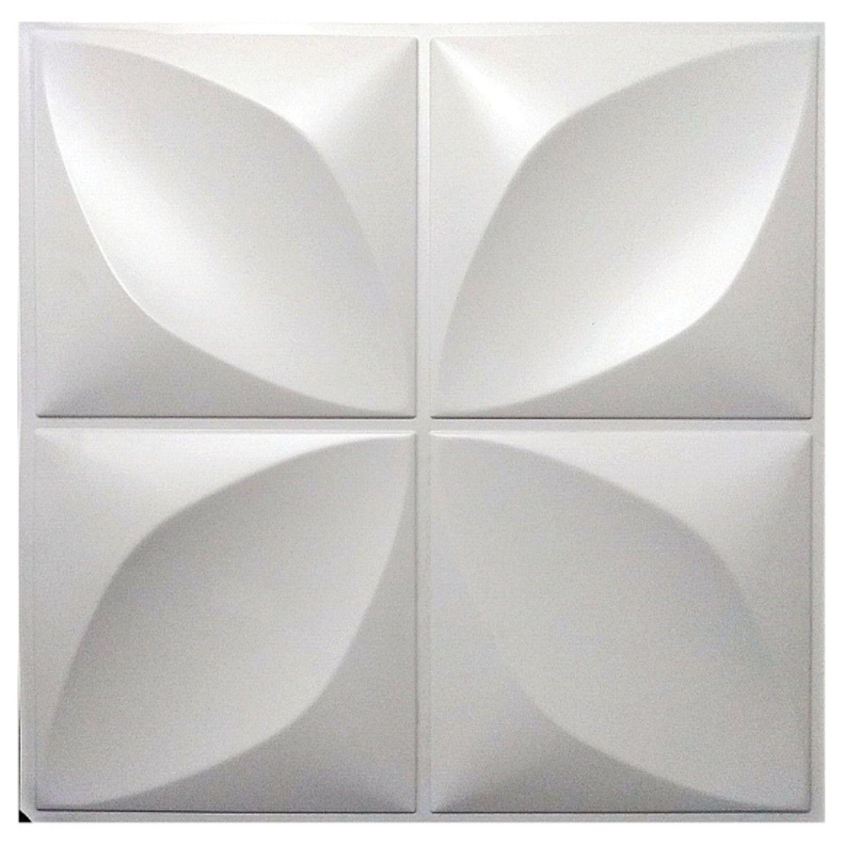 Placa 3D Autoadesiva Revestimento Premium Pétala 0,50 x 0,50cm
