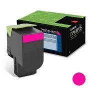 Cartucho de Toner Lexmark 70C8HM0 Magenta p/ 3.000 Páginas