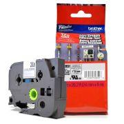 Fita Extra Forte p/ Rotulador Brother TZeS-951 Prata Sobre Preto 24mm