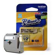 Fita para Rotulador Brother M-131 Preto Sobre Transparente 12mm
