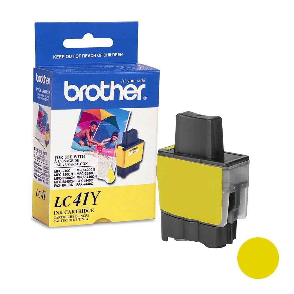 Cartucho de Tinta Brother LC-41Y Amarelo p/ 400 Páginas  - Loja Gomaq