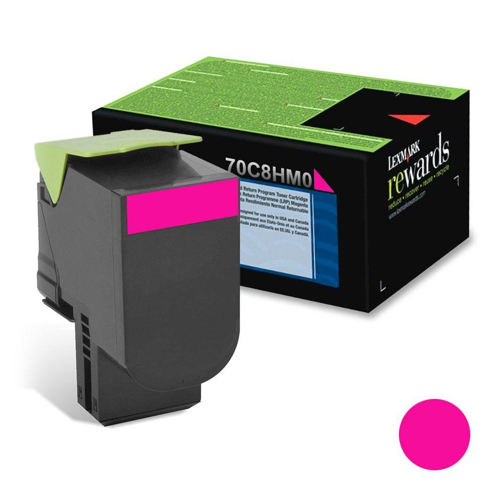 Cartucho de Toner Lexmark 70C8HM0 Magenta p/ 3.000 Páginas  - Loja Gomaq