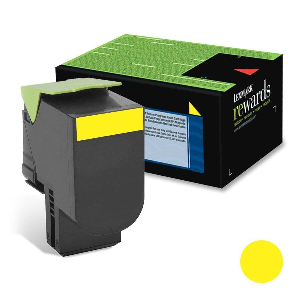 Cartucho de Toner Lexmark 71B40Y0 Amarelo p/ 2.300 Páginas  - Loja Gomaq