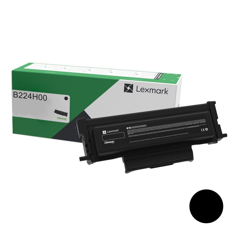 Cartucho de Toner Lexmark B224H00 Preto p/ 3.000 Páginas  - Loja Gomaq