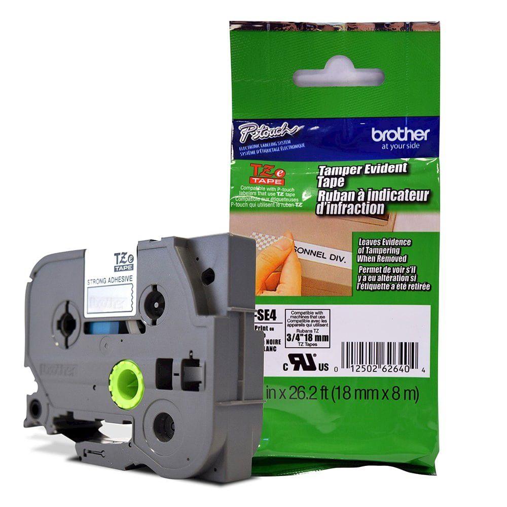 Fita de Segurança p/ Rotulador Brother TZeS-E4 18mm  - Loja Gomaq