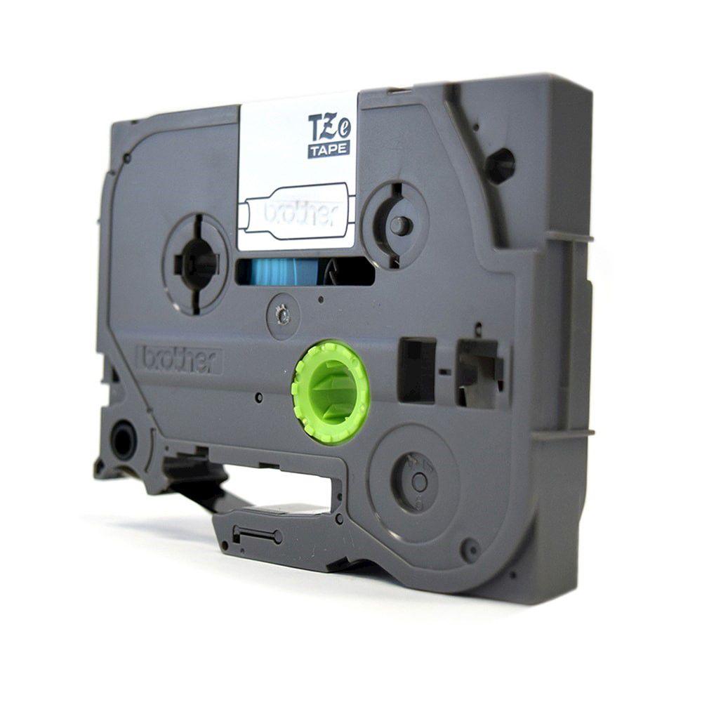 Fita Laminada p/ Rotulador Brother TZe-231 Preto Sobre Branca 12mm  - Loja Gomaq