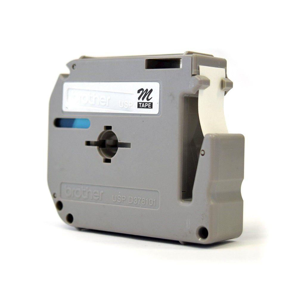 Fita para Rotulador Brother M-131 Preto Sobre Transparente 12mm  - Loja Gomaq
