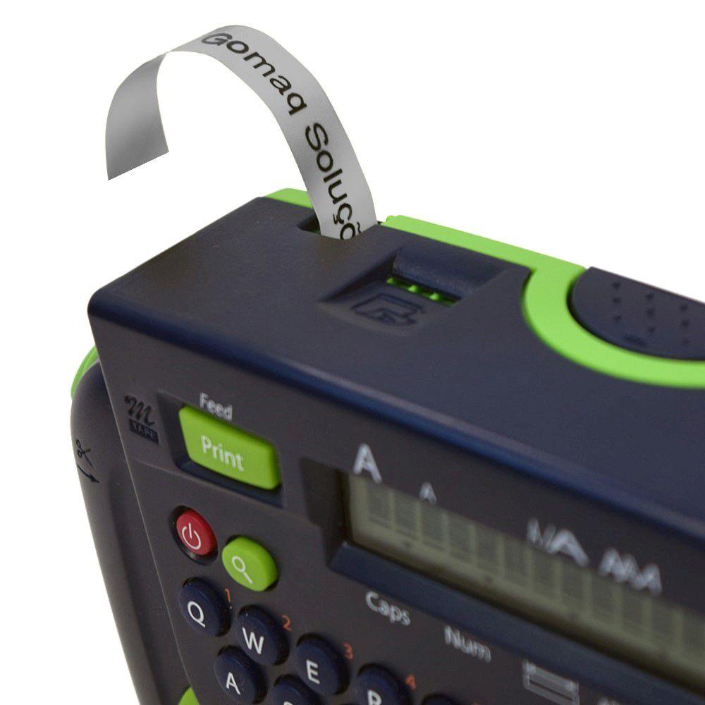 Fita para Rotulador Brother M-931 Preto Sobre Prateado 12mm  - Loja Gomaq