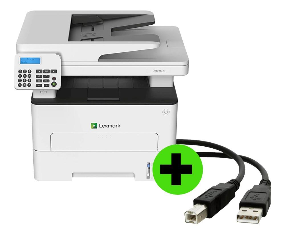 Multifuncional Lexmark MB2236ADW IMP Laser Mono + CABO USB GRÁTIS  - Loja Gomaq
