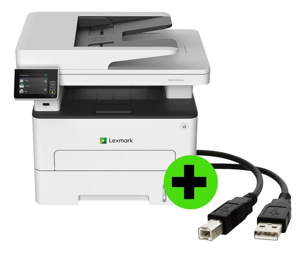 Multifuncional Lexmark MB2236ADWE Laser Mono Painel touch + CABO USB GRÁTIS  - Loja Gomaq