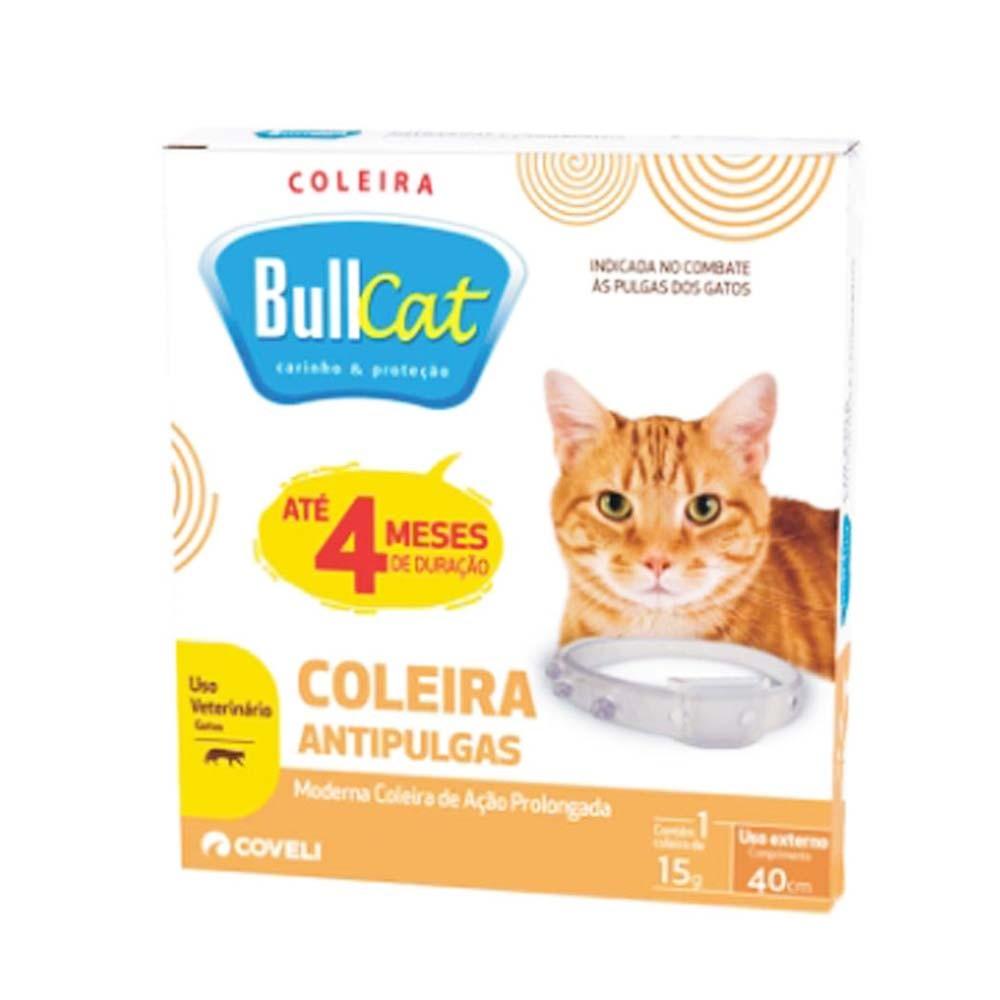 Coleira Antipulgas E Carrapatos P/ Gatos  Bullcat 40cm