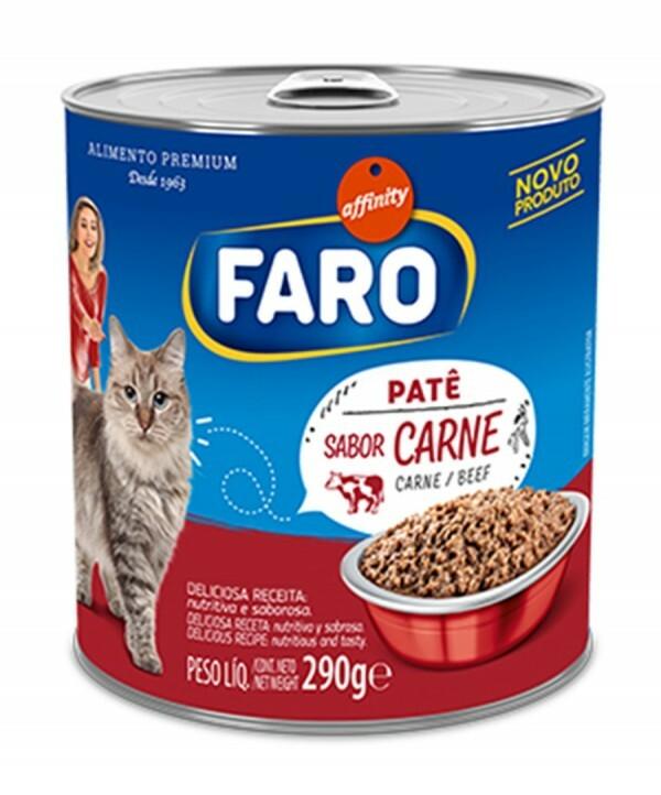 Ração Úmida Faro Gatos Carne Lata 290g