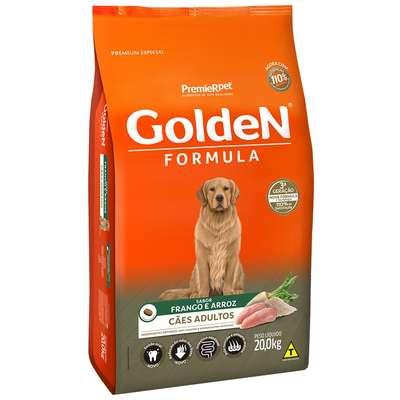 Ração Seca Cães Golden Adulto Frango 20 Kg