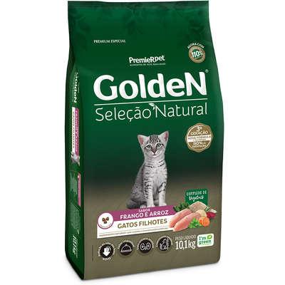 Ração Golden Seleção Nat. Gatos Filhotes Frango Arroz 10kg