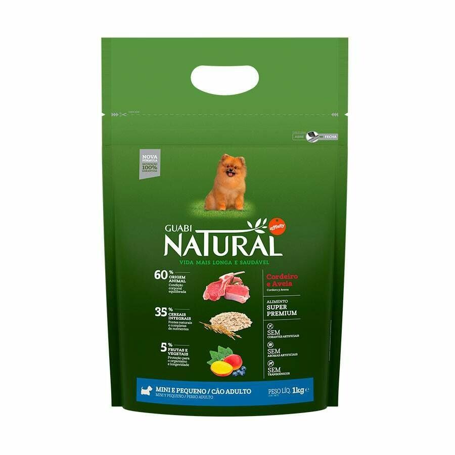 Ração Guabi Natural Cães Adultos Mini Cordeiro 1kg