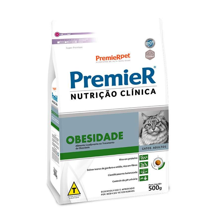 Ração Premier Nutrição Clínica Obesidade Gatos 500g