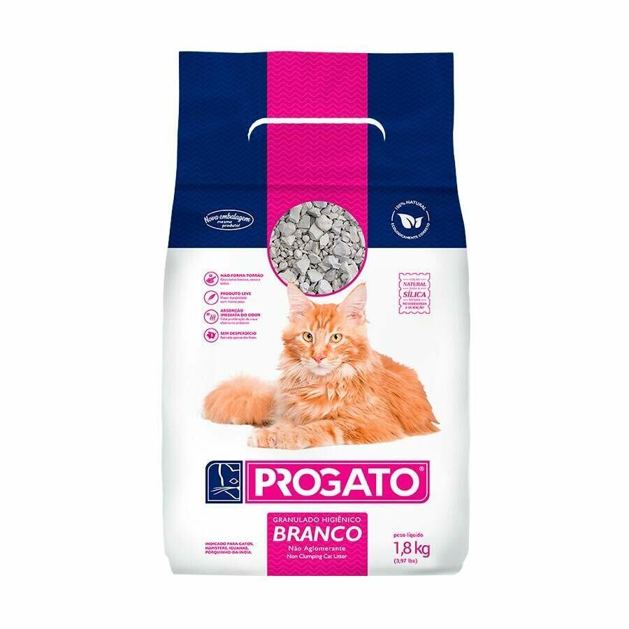 Areia Higiênica Progato Granulado Gatos 1,8kg