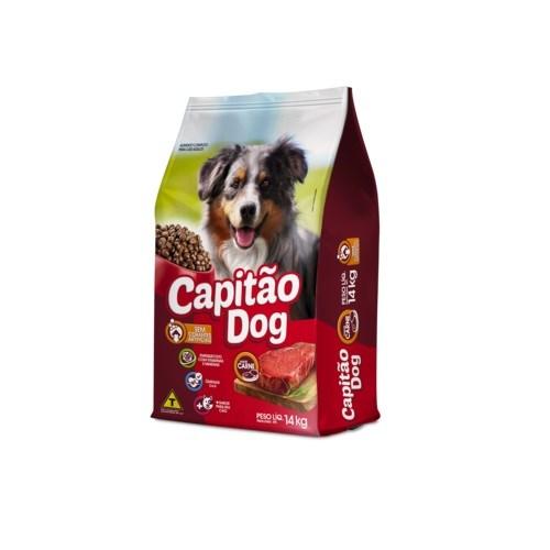 RaÇÃO CÃEs Adultos SÊNior Capitao Dog Sabor Carne 14kg